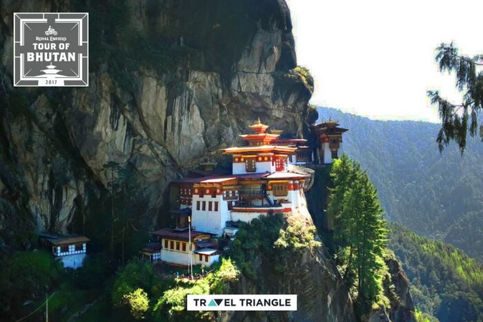 the mesmerising views of tiger's nest