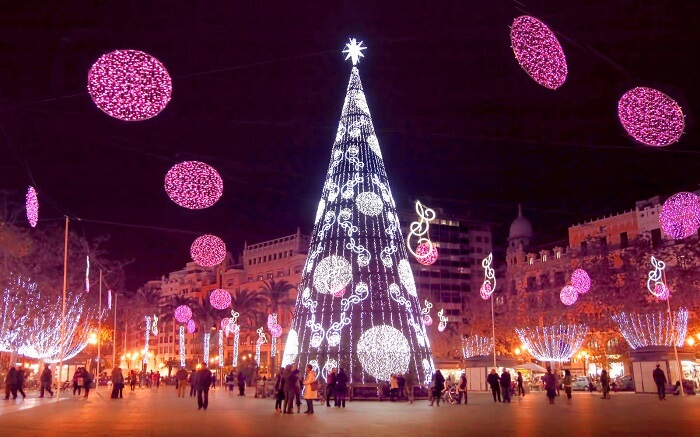 Christmas at Valencia, Spain