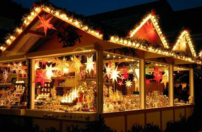 Christmas market at Winter Wonderland
