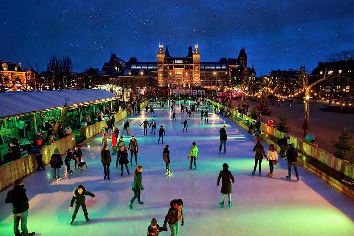 Ice Skating at Amsterdam, Netherlands