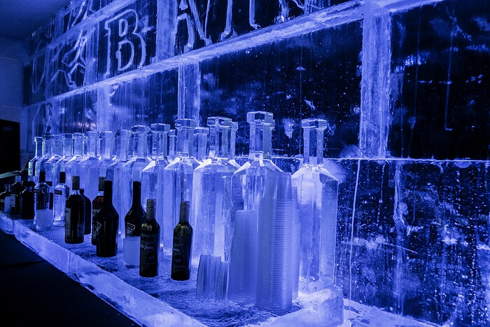Bar Ice at Winter Wonderland