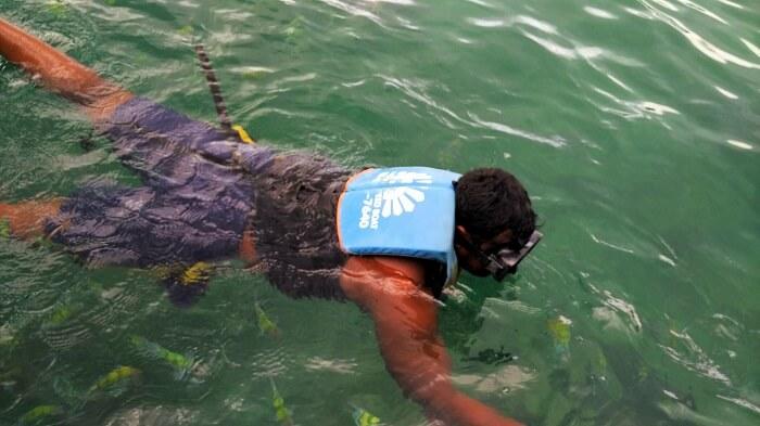 snorkeling in Krabi on honeymoon