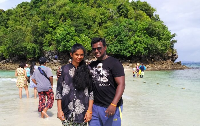Island hopping in Krabi on honeymoon