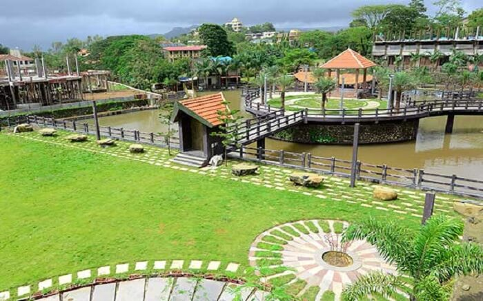A beautiful view of water reserve in Mystical Resort in Khanda