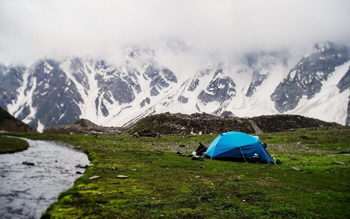 A tent on the mountains in Himachal