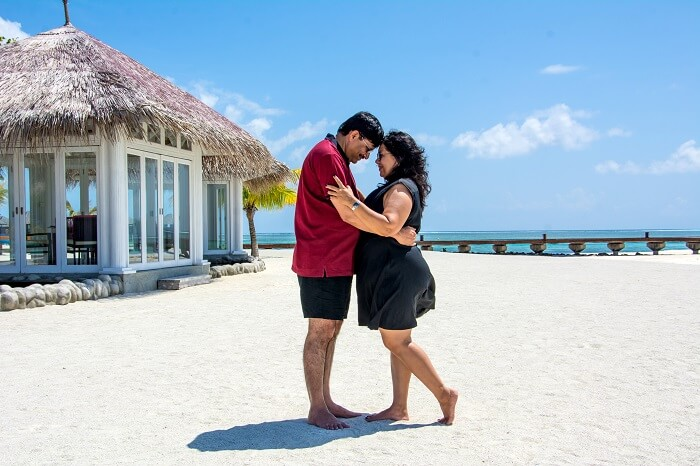 couple in maldives