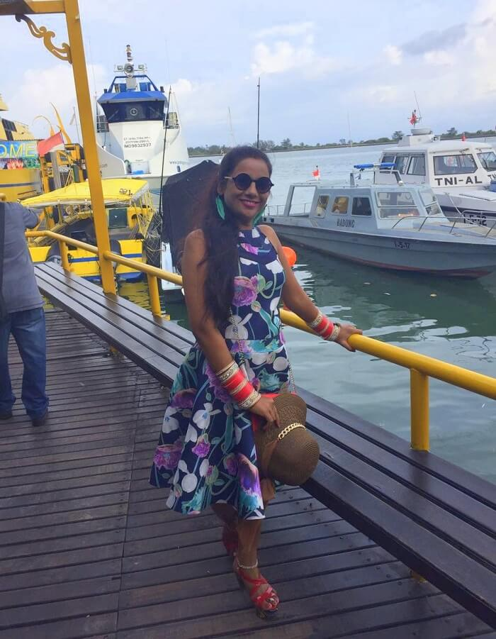 pankaj honeymoon trip to bali: aboard the sunset dinner cruise