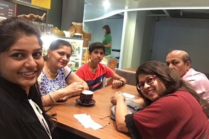 saurabhi singapore family trip: family dining at cruise