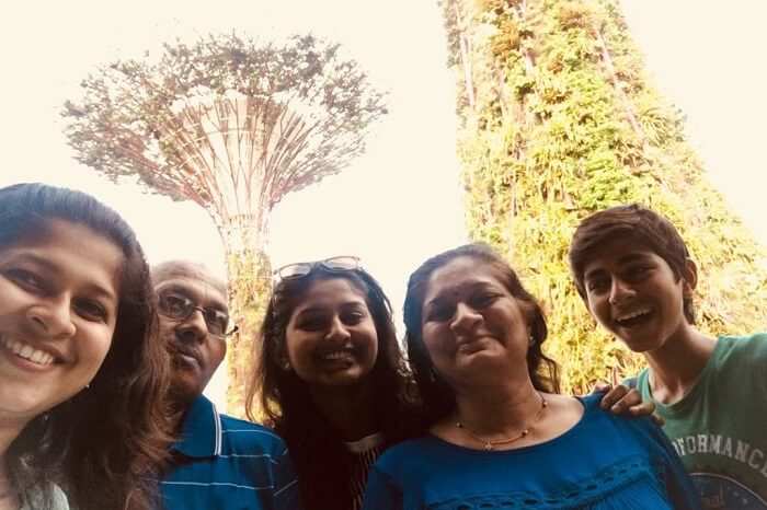 saurabhi family trip to singapore