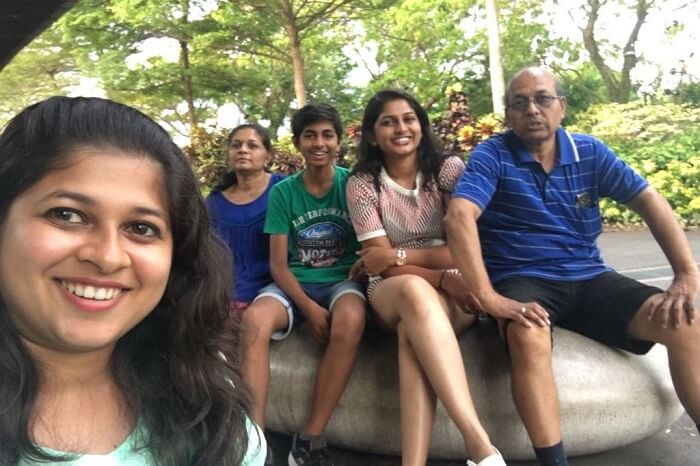saurabhi singapore family trip: outside the zoo