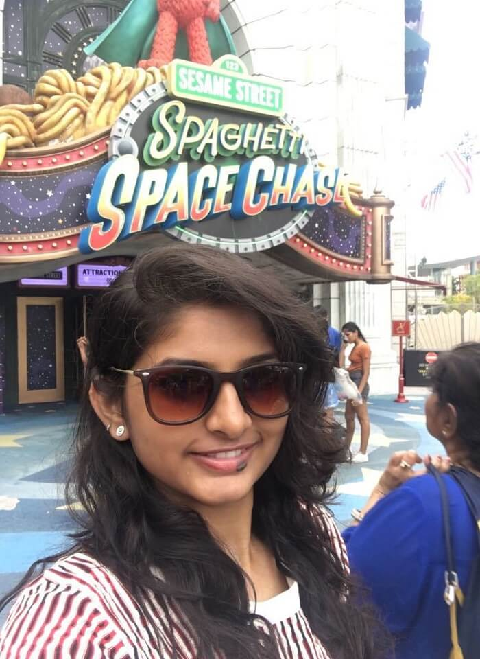 saurabhi singapore family trip: saurabhi sister enjoying at universal studios singapore