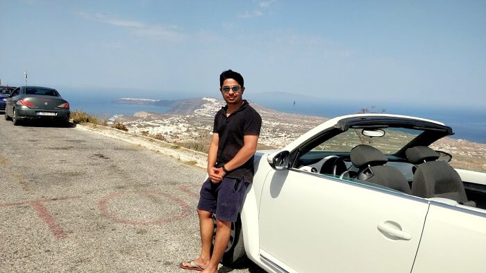 driving in santorini