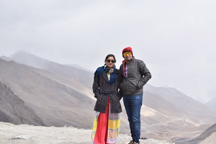 lokpal romantic trip to ladakh: lokpal and his wife in ladakh