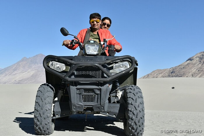 lokpal romantic trip to ladakh: atv ride