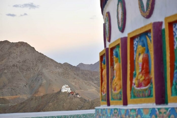 lokpal romantic trip to ladakh: views from stupa