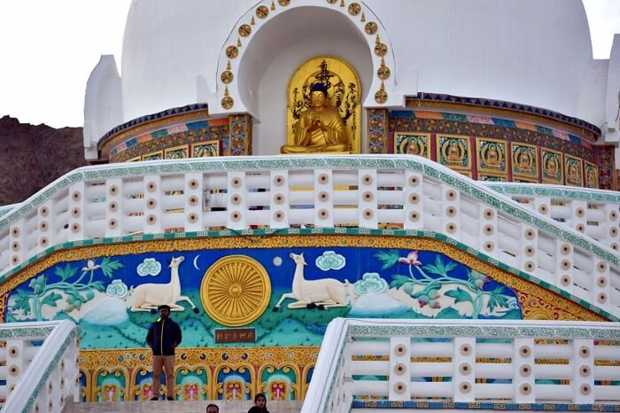 lokpal romantic trip to ladakh: shanti stupa in leh