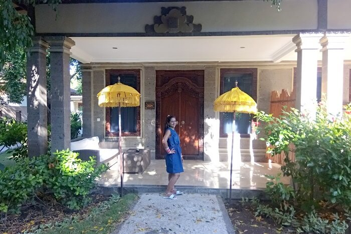 pankaj honeymoon trip to bali: outside park regis lavish room