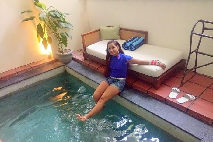 pankaj honeymoon trip to bali: inside the private pool villa
