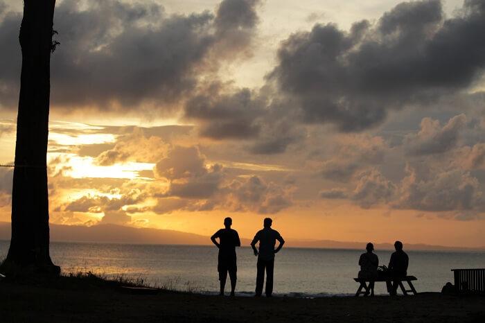 sunset in neil island