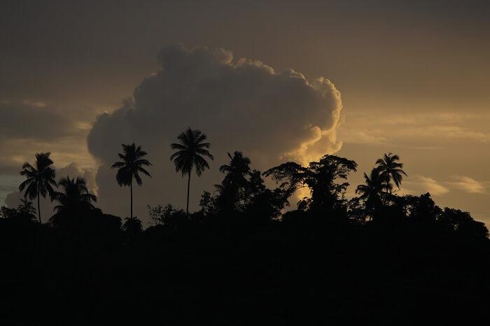 cloudy sky in andaman