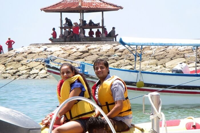 pankaj honeymoon trip to bali: jetskiing