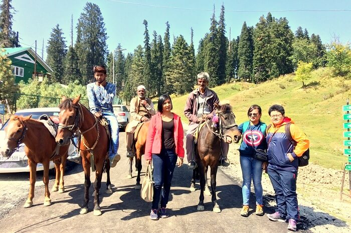 horse riding in Pahalgam