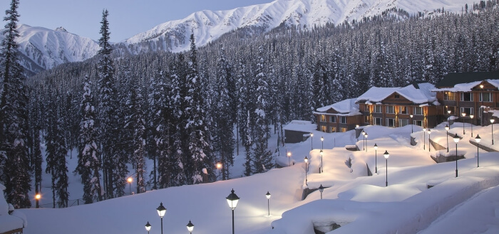 Khyber Gulmarg covered in snow