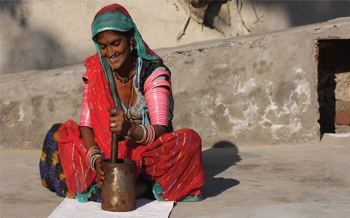 Local woman in Lakshman Sagar Rajasthan