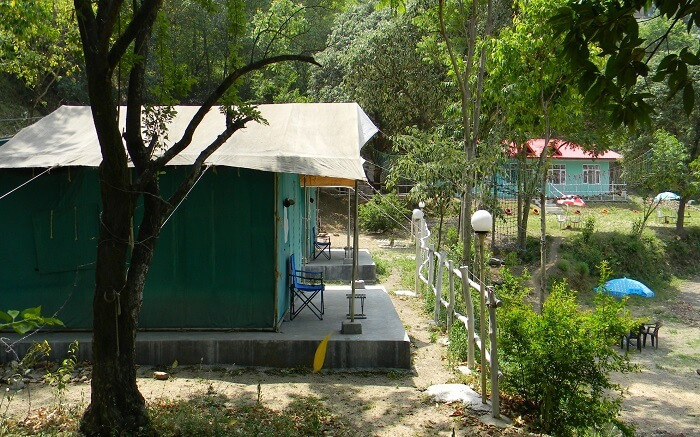 One of the tents of Jupiter Camps in Shimla