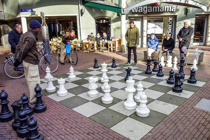 Play chess on a giant chessboard