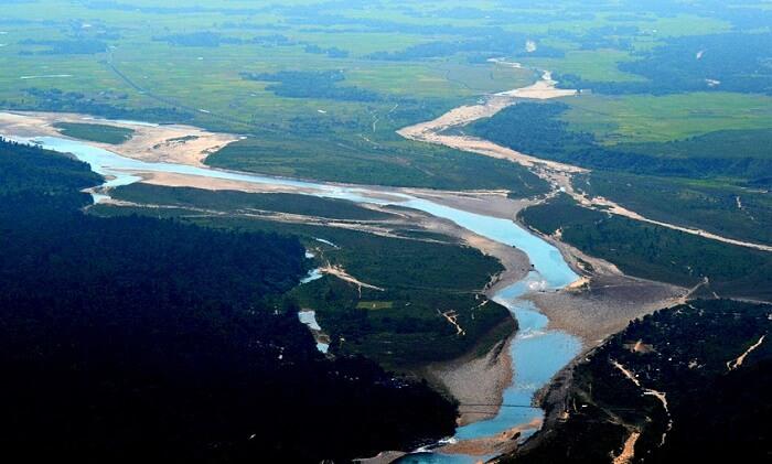 view of bangladesh plans from cherrapunji