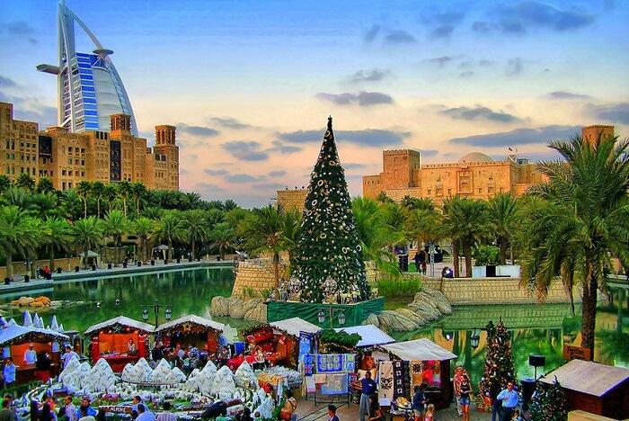 christmas near burj al arab