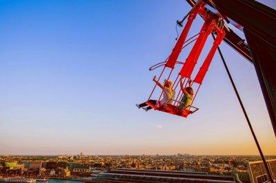 over the edge - europe's highest swing