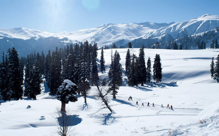 Gulmarg covered in snow