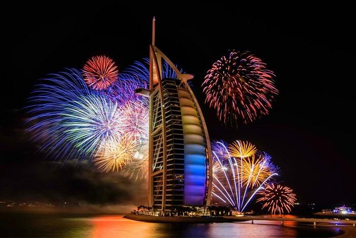new year fireworks burj al arab