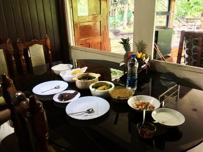 Lunch on houseboat in Kerala