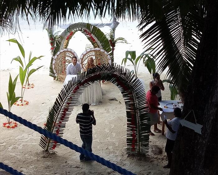 Wedding at La Digue Island, Seychelles
