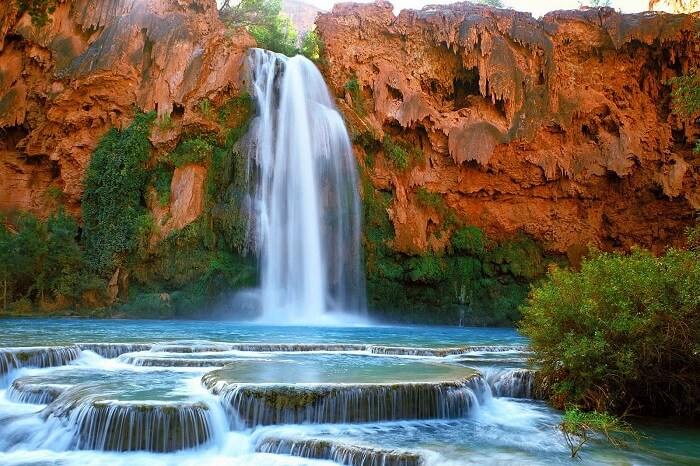 Waterfalls in Supai, Arizona