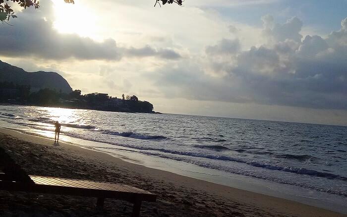 Sunset on Mahe Island
