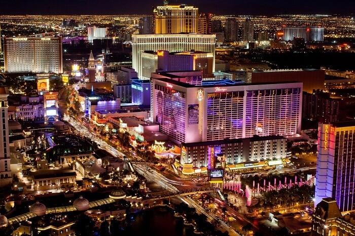 Las Vegas in Nevada, USA
