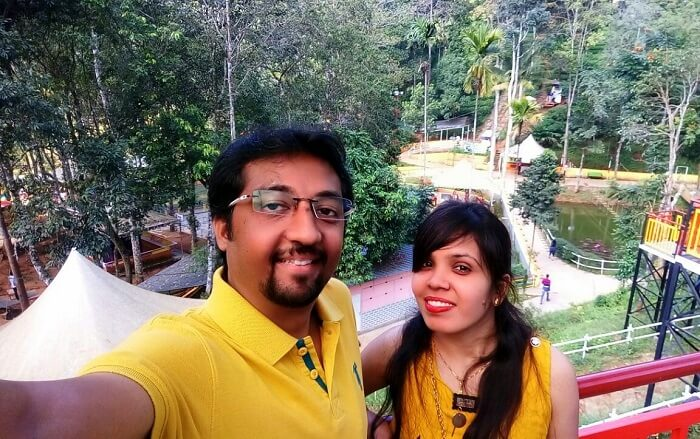 Couple enjoying at Wonderland Munnar