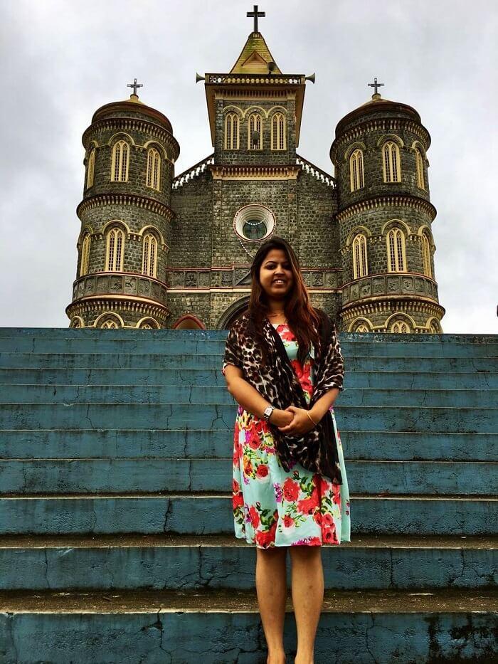 Female traveler in Kerala