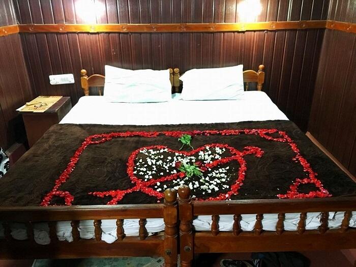 Romantic decoration for honeymoon