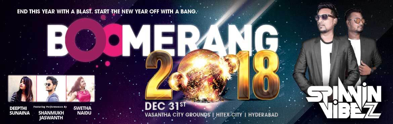 Boomerang New Year Eve 2018 at HItech City