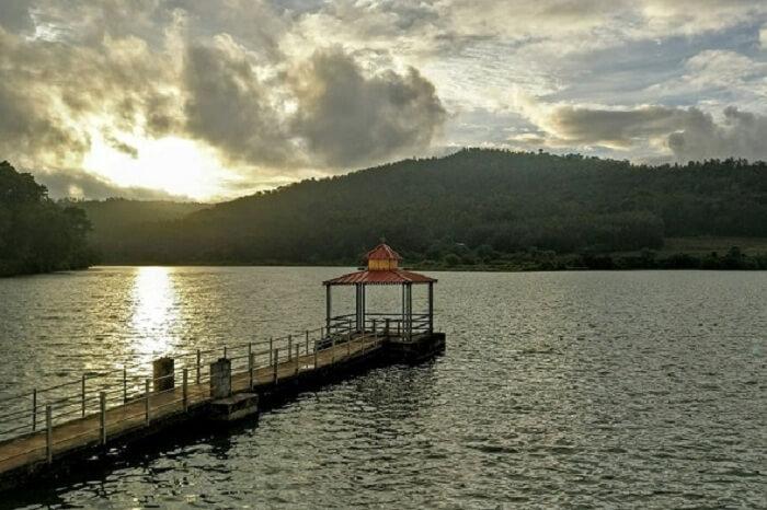 Hirekolale Lake Panoramic View