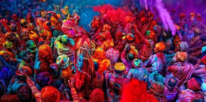 Holi celebration in Vrindavan