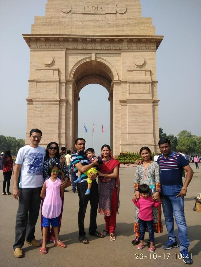 Shekhar's Family Near India Gate
