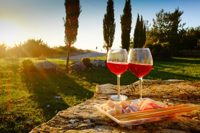 wine in Tuscany