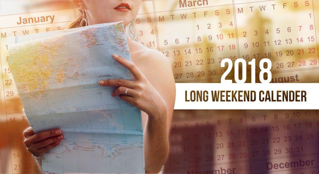 Long Weekend Calendar 2018 cover