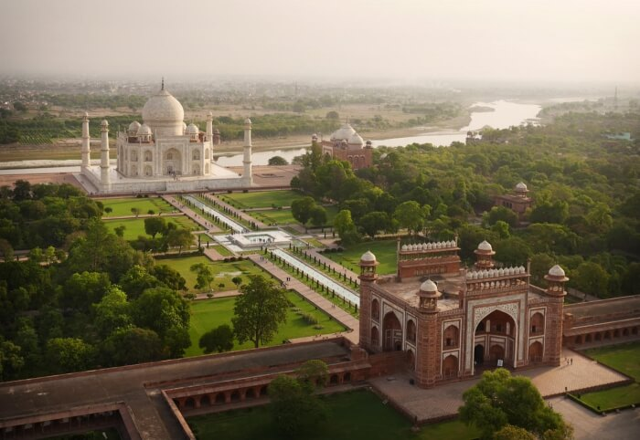 Taj Mahal top view